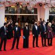 Alberto Barbera et le jury de la 77e édition du Festival du Film de Venise : Cate Blanchett, Ludivine Sagnier, Veronika Franz, Joanna Hogg, Christian Petzold, Cristi Puiu - Cérémonie d'ouverture de la Mostra de Venise le 2 septembre 2020.