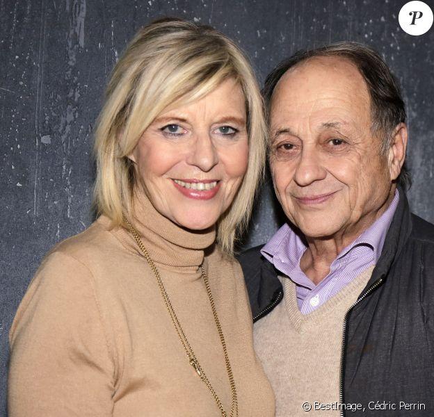 Exclusif - Rendez-vous avec Chantal Ladesou et son mari Michel Ansault à Paris. © Cédric Perrin/Bestimage