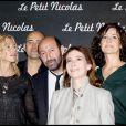 Sandrine Kiberlain, Laurent Tirard, Kad Merad, Anne Goscinny et Valérie Lemercier lors de la première du Petit Nicolas le 20 septembre 2009 à Paris