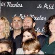Sandrine Kiberlain, Laurent Tirard, Kad Merad et Valérie Lemercier lors de la première du Petit Nicolas le 20 septembre 2009 à Paris