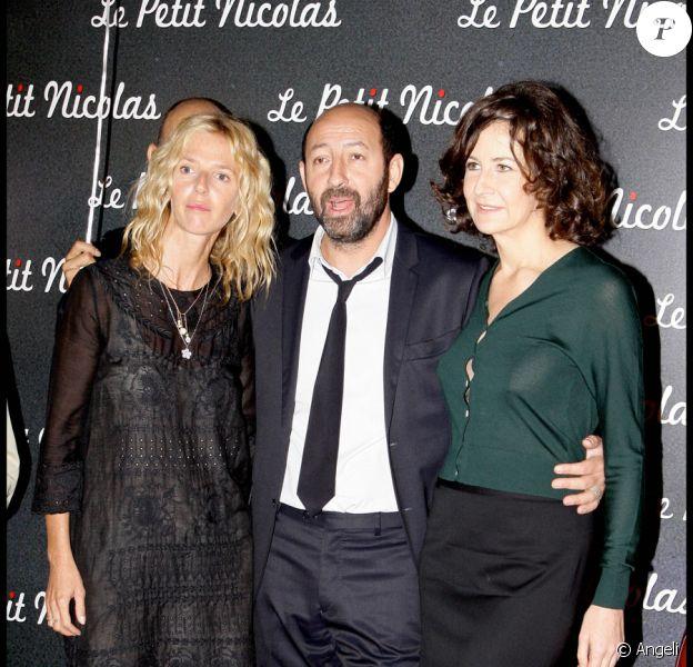 Sandrine Kiberlain, Kad Merad et Valérie Lemercier lors de la première du Petit Nicolas le 20 septembre 2009 à Paris