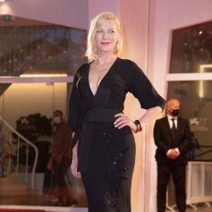 """Cate Blanchett sur le tapis rouge du film """"Les Amants sacrifiés"""" lors de la 77ème édition du Festival international du film de Venise, la Mostra. Le 9 septembre 2020 © Imagespace / Zuma Press / Bestimage"""
