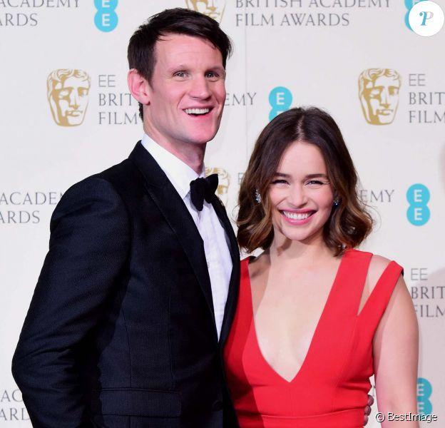 Emilia Clarke et Matt Smith assiste à la 69ème cérémonie des British Academy Film Awards (BAFTA).