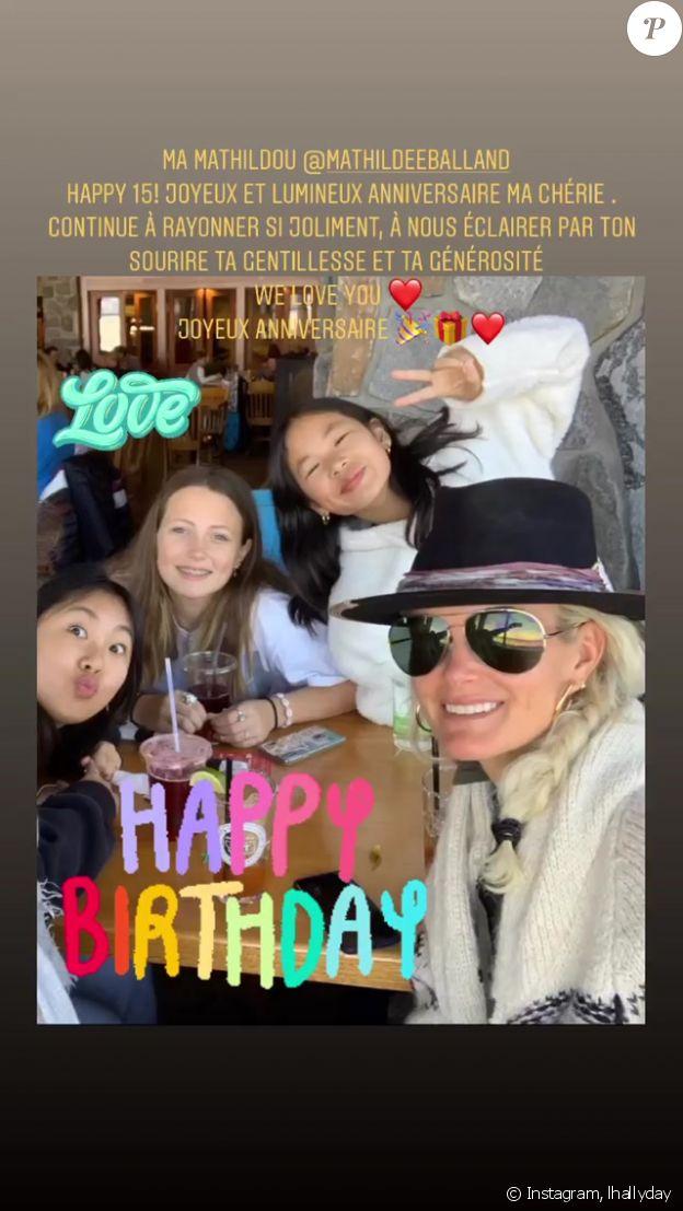 Laeticia Hallyday, ses filles Jade et Joy, et sa belle-fille Mathilde, sur Instagram le 13 septembre 2020.