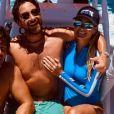 Laeticia Hallyday, son compagnon Pascal Balland et leurs amis en vacances sur l'île de Saint-Barthélémy, le 25 août 2020.