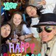 Laeticia Hallyday, ses filles Jade et Joy, et sa belle-fille Mathilde Balland, sur Instagram le 13 septembre 2020.