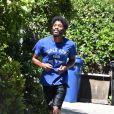 Exclusif - Chadwick Boseman fait son jogging à Los Angeles, le 13 juin 2020.