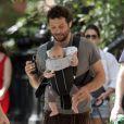 Jeremy Sisto à New York, se promène avec sa fillette Charlie Ballerina. Septembre 2009