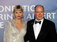 Charlene de Monaco : Diamants et robe à strass, la princesse scintille au bras d'Albert