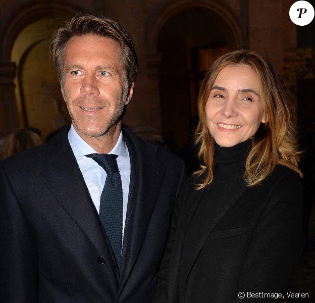 Le prince Emmanuel-Philibert de Savoie et sa femmme Clotilde Courau lors de la cérémonie d'installation de F.Mitterrand à l'académie des Beaux-Arts à Paris, France, le 6 février 2020. © Veeren/Bestimage