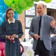 Catherine Kate Middleton, duchesse de Cambridge, le prince William, duc de Cambridge lors d'une visite à l'hôpital Queen Elizabeth Hospital à King's Lynn le 5 juillet 2020.