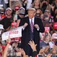 Le président américain Donald Trump s'adresse à ses partisans lors d'un meeting à Pittsburgh, le 22 septembre 2020.