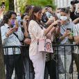 Adèle Exarchopoulos assiste au défilé Fendi, collection prêt-à-porter printemps-été 2021, à la Fashion Week de Milan. Le 23 septembre 2020.
