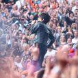Nicola Sirkis et son groupe Indochine en concert au Stade France à Paris. Le 27 juin 2014