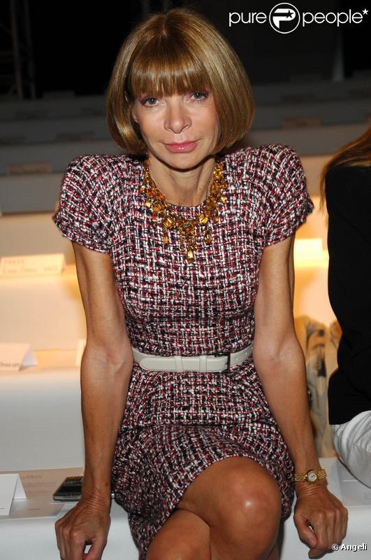 Anna Wintour au défile Max Mara à Milan le 26/09/09