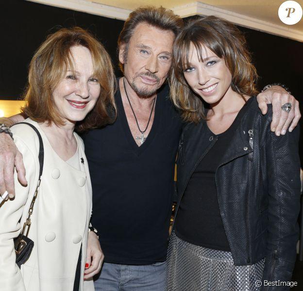 Exclusif - Nathalie Baye et Laura Smet - People au concert de Johnny Hallyday au POPB de Bercy à Paris - Jour 2.