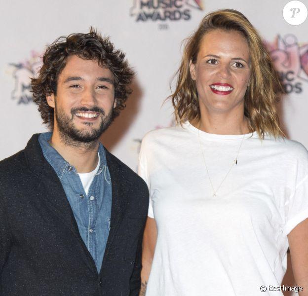 Info du 13 Août 2020 ( Laure Manaudou enceinte , un deuxième enfant avec Jérémy) - Mariage - Laure Manaudou et Jérémy Frérot se sont mariés - Laure Manaudou et son compagnon Jérémy Frérot - Arrivées à la 17ème cérémonie des NRJ Music Awards 2015 au Palais des Festivals à Cannes.