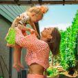 Alexandra (Koh-Lanta, Les 4 Terres) avec l'une de ses filles sur Instagram