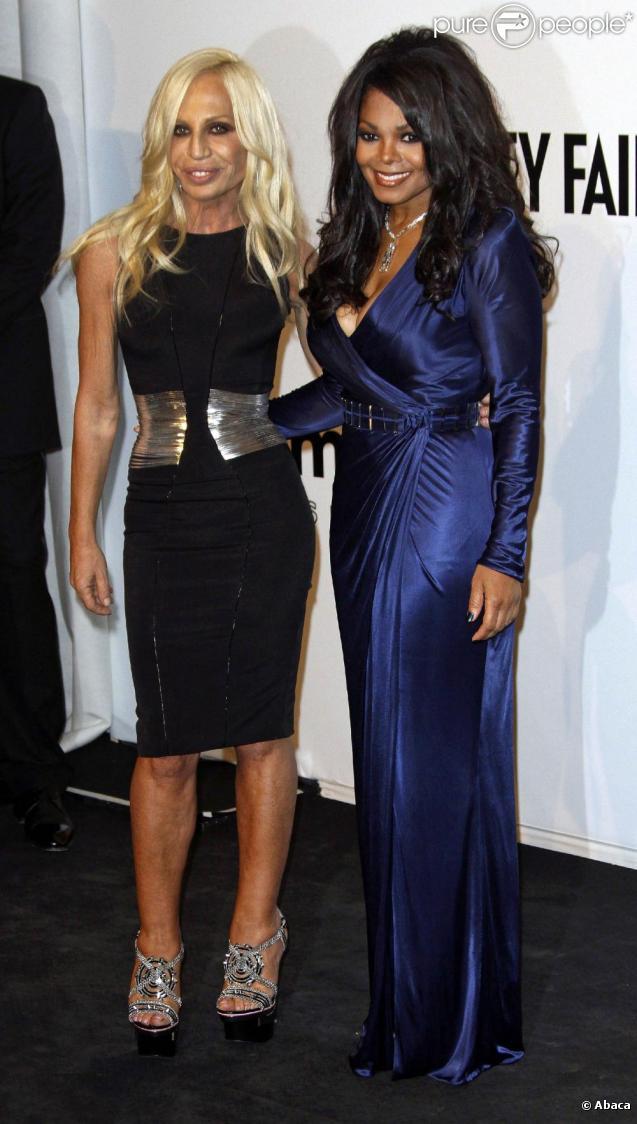 Janet Jackson et Donatella Versace au gala de l'amfAR. 28/09/09