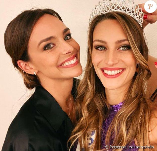 Marine Lorphelin et sa soeur Lou-Anne, sacrée Miss Bourgogne 2020.