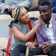 Blaise Matuidi et sa femme Isabelle dans les tribunes lors des internationaux de France de tennis de Roland Garros 2019 à Paris le 28 mai 2019. © Jacovides-Moreau/Bestimage