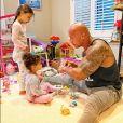 Dwayne Johnson et ses deux filles, Jasmine et Tiana. Août Juillet 2020.