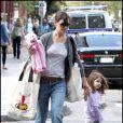 Katie Holmes et sa fille Suri Cruise à Boston le 29 septembre 2009