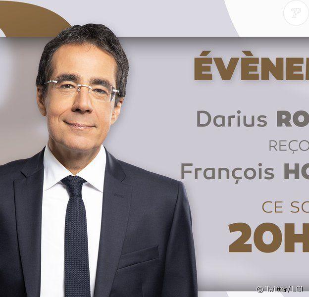 """Darius Rochebin, accusé de harcèlement sexuel par le journal suisse """"Le Temps""""."""