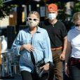 Exclusif - Ashlee Simpson, enceinte et son mari Evan Ross célèbrent leurs 3 ans de mariage avec des amis proches à Rocco's Tavern à Studio City, en Californie le 31 août 2020.