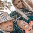 Jessica Thivenin avec son mari Thibault et leur fils Maylone, le 8 novembre 2020, sur Instagram