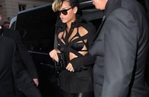 Rihanna : Quand elle sort à Paris, à moitié nue, elle déclenche... une émeute !