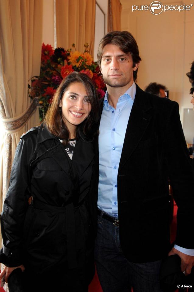 Caterina Murino et son chéri Pierre Rabadan au Qatar Prix de l'Arc de Triomphe. 04/10/09