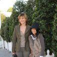 Alexandra Kazan et sa fille Martha au Qatar Prix de l'Arc de Triomphe. 04/10/09
