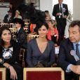 Caterina Murino, Tasha de Vasconcelos et Michel Denisot au Qatar Prix de l'Arc de Triomphe. 04/10/09