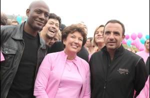 Harry Roselmack et Nikos : un duo séduisant... face à Roselyne Bachelot en rose bonbon !