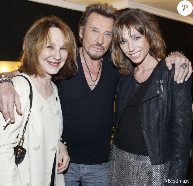Exclusif - Nathalie Baye et Laura Smet - People au concert de Johnny Hallyday au POPB de Bercy a Paris - Jour 2.