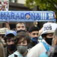 Le cortège funèbre de Diego Armando Maradona quitte la Casa Rosada. Buenos Aires, le 26 novembre 2020.