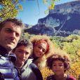 Gil Alma avec son épouse Aminata et leurs fils, octobre 2020