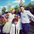 Gil Alma avec sa femme Aminata et ses enfants à Paris, Juin 2019