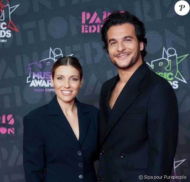 Amir et sa femme lors de la 22e édition des NRJ Music Awards à la Seine musicale
