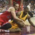 Joakim Noah lors du match de NBA opposant les Chicago Bulls aux Cleveland Cavaliers. Cleveland, le 13 mai 2015.