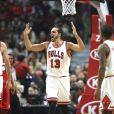 Joakim Noah lors du match de NBA opposant les Chicago Bulls aux Washington Wizards. Chicago, le 11 janvier 2016.
