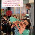 """Lorie Pester de retour dans la série """"Demain nous appartient"""". Souvenir partagé sur Instagram le 14 décembre 2020."""