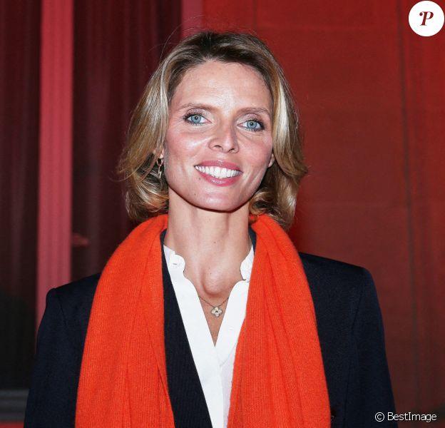 Sylvie Tellier, directrice générale de la société Miss France lors de l'illumination en orange du ministère de l'Intérieur pour symboliser la lutte contre les violences faites aux femmes. © Panoramic / Bestimage