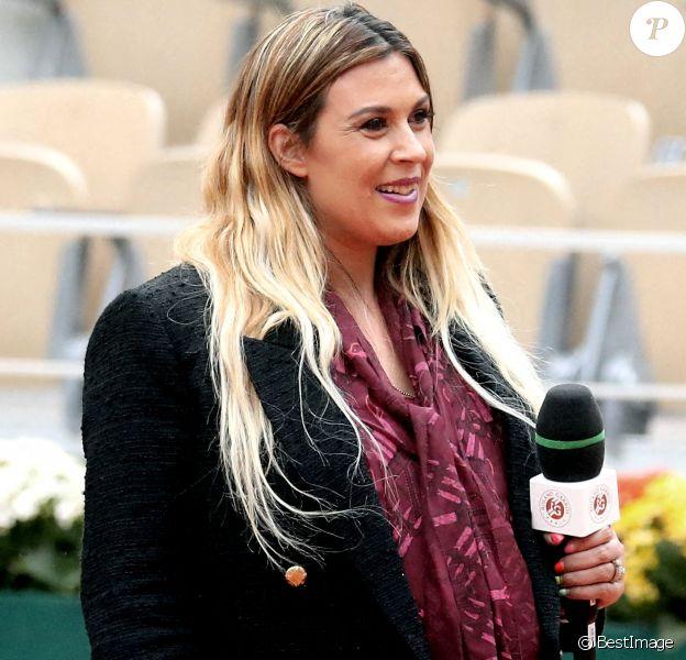 Marion Bartoli, enceinte dans les tribunes des internationaux de tennis de Roland Garros à Paris, automne 2020. © Dominique Jacovides / Bestimage
