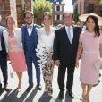Mariage de Thomas Hollande et de la journaliste Emilie Broussouloux à la mairie à Meyssac en Corrèze près de Brive, ville d'Emiie. Le 8 Septembre 2018. © Patrick Bernard-Guillaume Collet / Bestimage