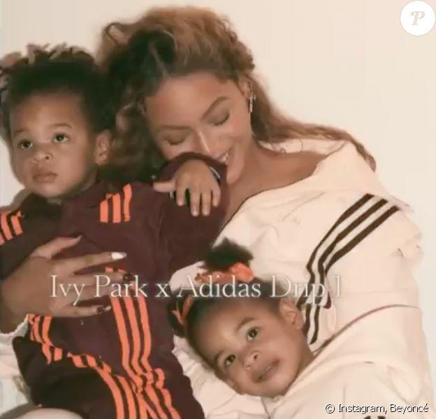 Beyoncé et ses jumeaux, Sir et Rumi.