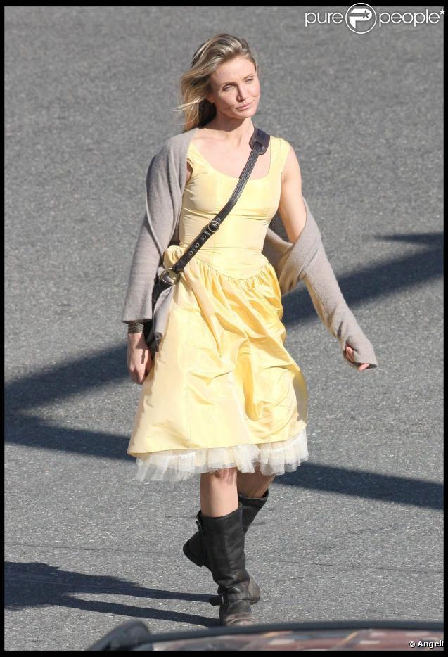 Cameron Diaz sur le tournage de  Wichita , à Boston, le 12 octobre 2009 !