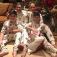Céline Dion avec ses 3 fils, René-Charles er les jumeaux Nelson et Eddy, pour le réveillon de Noël le 24 décembre 2020.