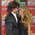 Paulina Rubio et Nicolas Colate à l'occasion de la soirée Los Premios MTV, le 15 octobre 2009, aux studios Universal de Los Angeles.